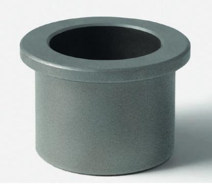 Self-lubricating sintered iron bushings type F